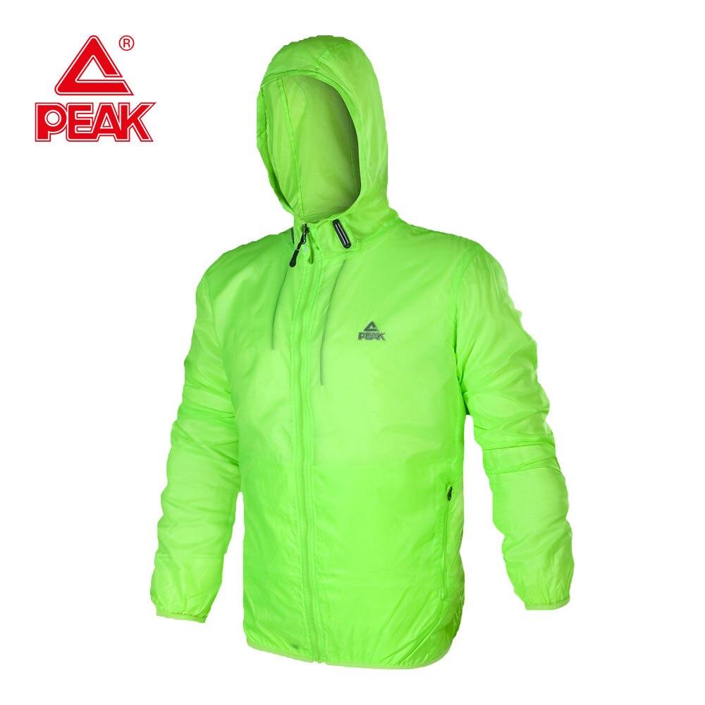 цена PEAK SPORT Men Running Windbreaker Jacket Mens Hooded Track Jacket Sport Coats Lightweight Waterproof Sun & UV Protection Jacket