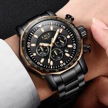 цена на 2018 New LIGE Fashion Mens Watches Top Luxury Brand Business Quartz Watch Men Sport Waterproof Big Dial Clock Relojes Hombre