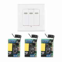 Smart Home AC 220V 3CH Channel Remote Control Switch Wall Panel Wall Transmitter Remote Room Stairway