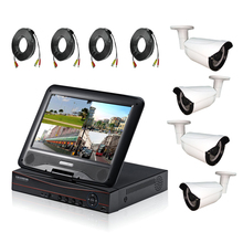 HD 720P 4ch LCD AHD DVR Kit for security Camera System with 10.1 inch LCD Screen