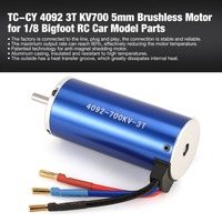 TC CY 4092 3T KV700 5mm Sensorless Brushless Motor for 1/8 Bigfoot RC Car Model Spare Parts Accessories Component