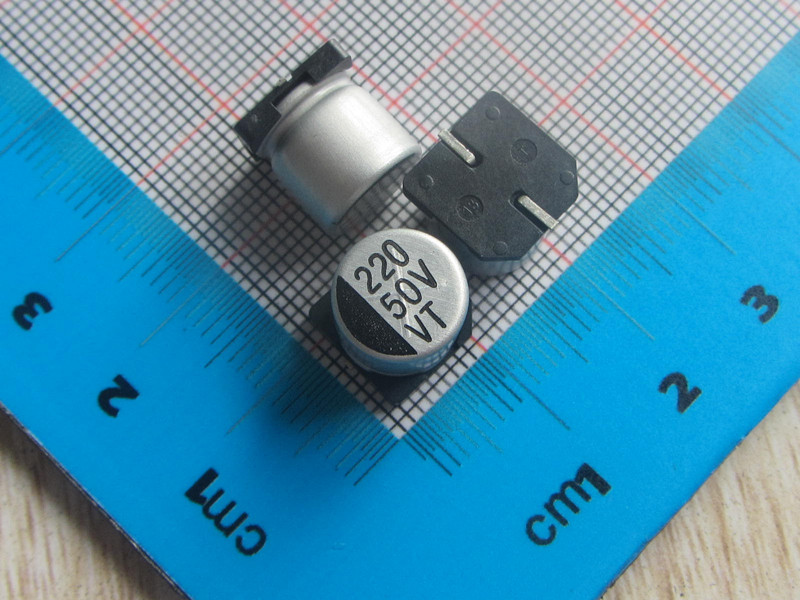 Free ship with track 50pcs/lot <font><b>220UF</b></font> <font><b>50V</b></font> SMD Aluminum Electrolytic Capacitor <font><b>50V</b></font> <font><b>220UF</b></font> 10*10.2MM electrolytic capacitor <font><b>220uf</b></font> image