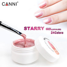 #86118 CANNI New Product 24 Colors Starry Gel 15ml Soak Off LED/UV Gel Nail Art DIY Nail Gel Bling Gel