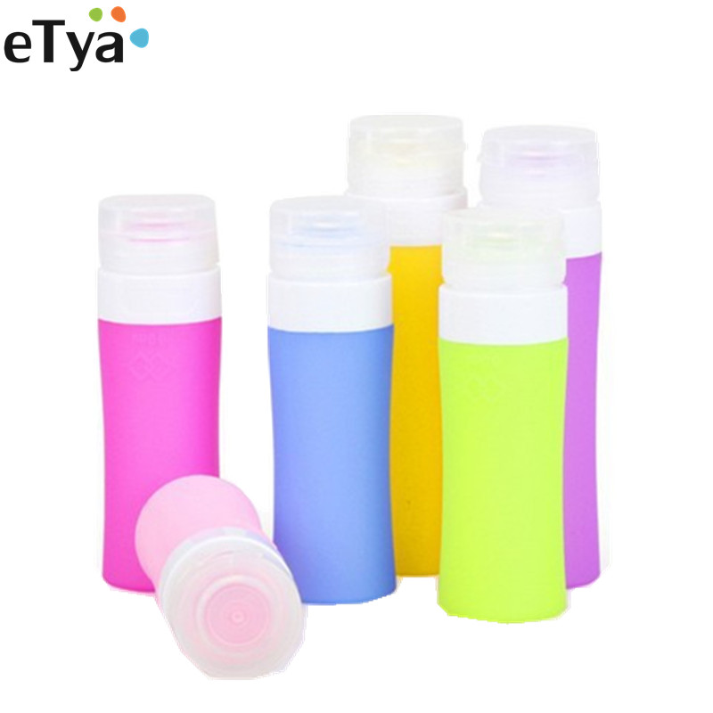 Silicone Portable Women Men Travel Packing Bottle For Lotion Shampoo Bath Cosmetic Container Bag
