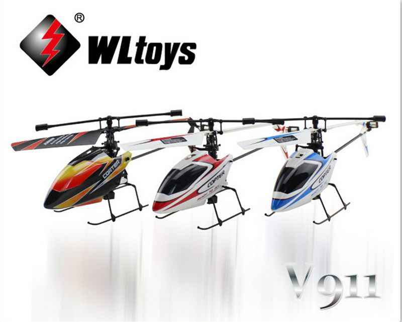 Original Upgrade Version WLtoys V911 2.4Ghz 4CH Single Blade Propellor Gyro Mini Radio RC Helicopter with Transmitter