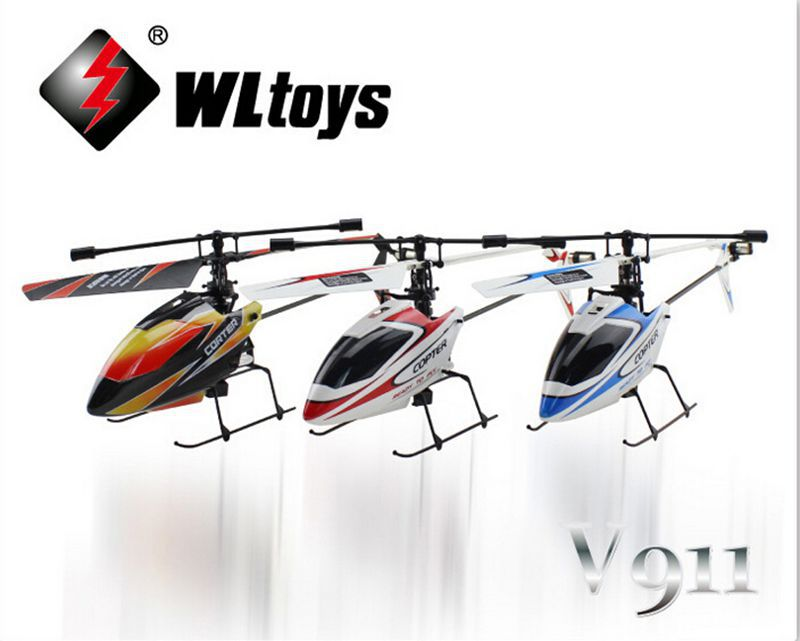 Original Upgrade Version WLtoys V911 2.4Ghz 4CH Single Blade Propellor Gyro Mini Radio RC Helicopter with Transmitter wltoys v911 4ch 4 channel 2 4ghz mini gyro single radio propeller rc helicopter model 1