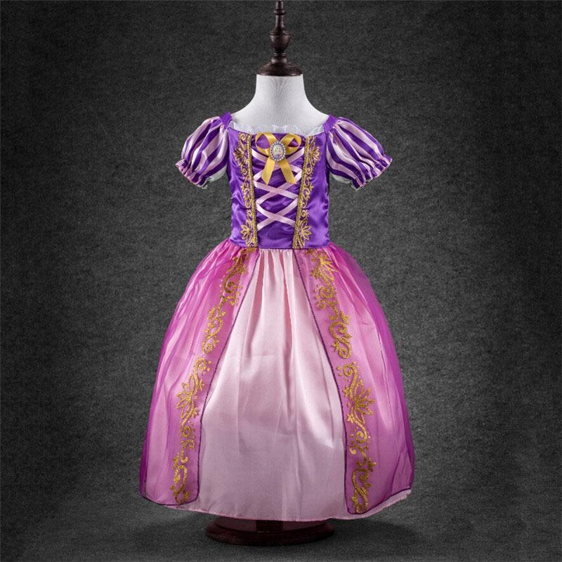 Verano Niñas vestido princesa Cenicienta Blancanieves Vestidos para ...