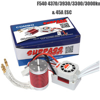 Platinum Waterproof F540 3930KV 4370KV Brushless Motor with 45A ESC RC Car Part Kit for 1/10 1/12 RC Car Truck Model Toys