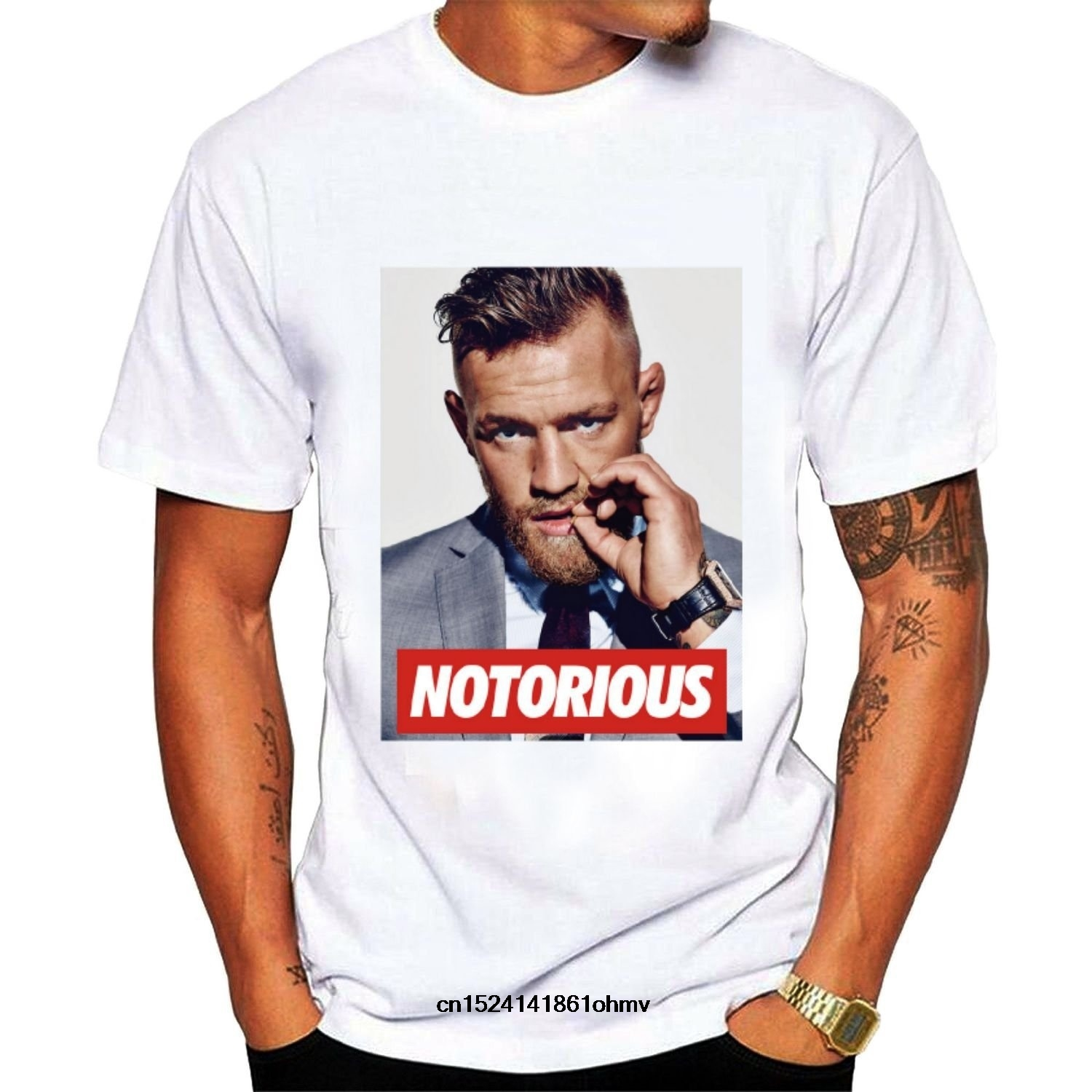 Funny Men T Shirt White T-shirt Tshirts Black Tee Men's Conor Mcgregor Cool Graphic T-shirt Black Curing Cough And Facilitating Expectoration And Relieving Hoarseness