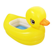 Baby Cartoon Cute Yellow Duck Desugn Folding Bath Child Inflatable Swimming Pool Thickened PVC Bathtub