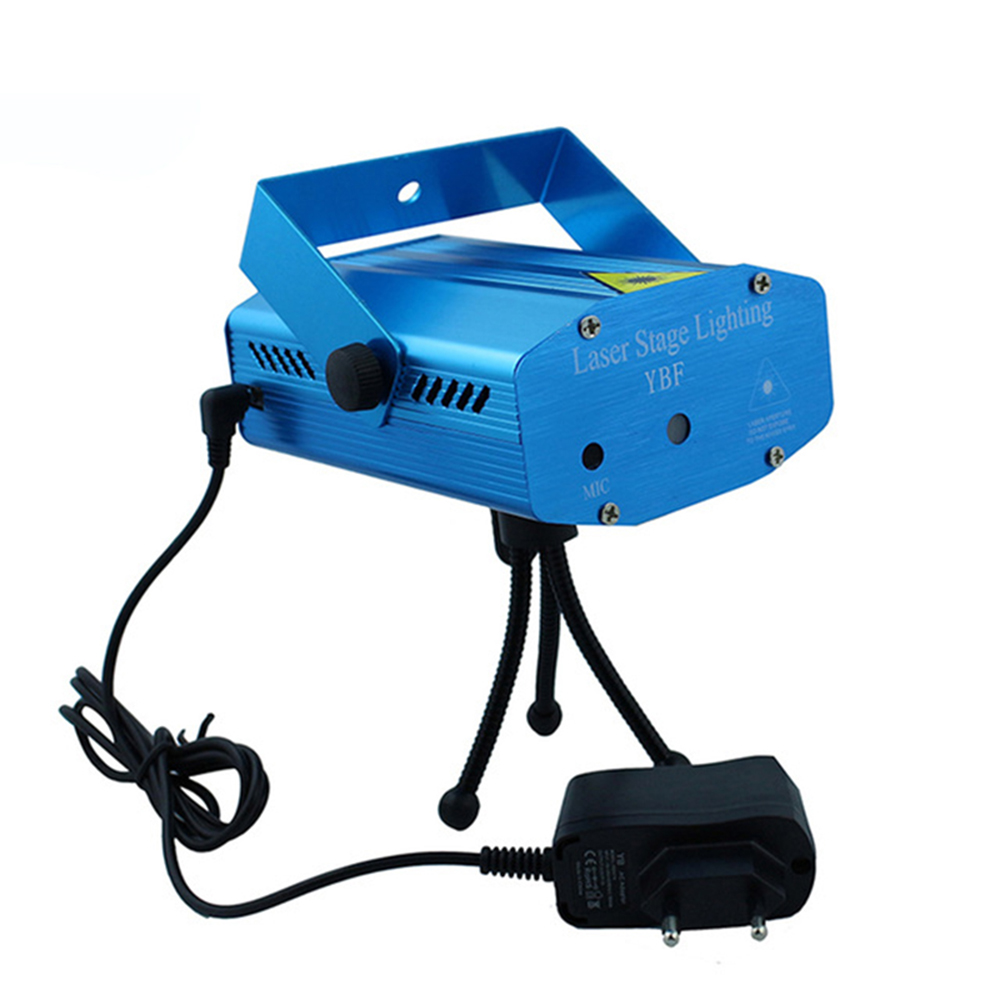 Red and Green Laser Stage Effect Lighting Mini Star Show Projector Lights Sound Active with EU Power Plug For Party Disco Club new mini laser star club projector stage lighting
