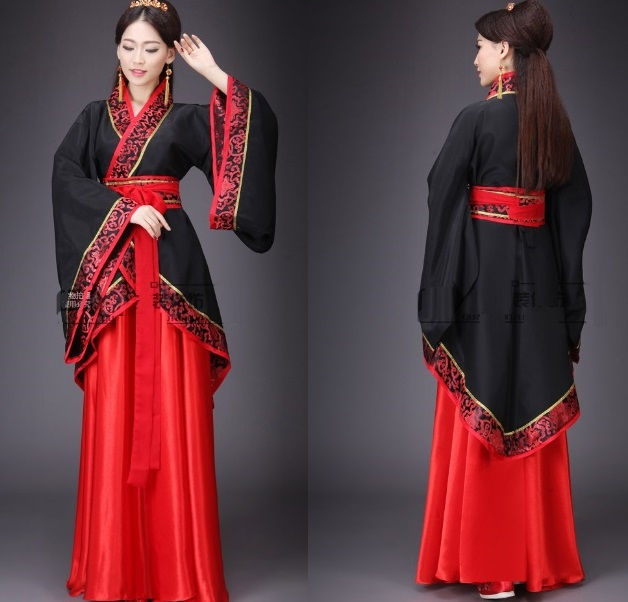 Women Clothing Dynasty Chinese Folk Dance Costume For Woman Black Costumes Tang Fairy -3078