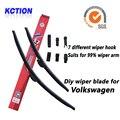 Car windshield wiper blade para volkswagen jetta 5, jetta 6, passat b5 b6 b7 cc, polo mk4 mk5 golf, golf mk4 mk5 mk6 mk7, bracketless limpa, escova