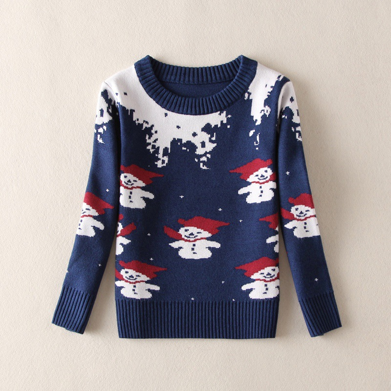 b021dda4e Boys Girls Christmas Sweater Winter Kids Long Sleeve Patterns Family ...