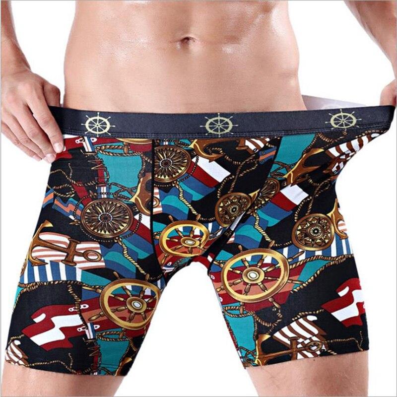 Novel Comfortable Long Leg Short Leg Men Flower Lion Print Boxers Shorts Male Underpants Man Underwear Boxer Underpants Cuecas