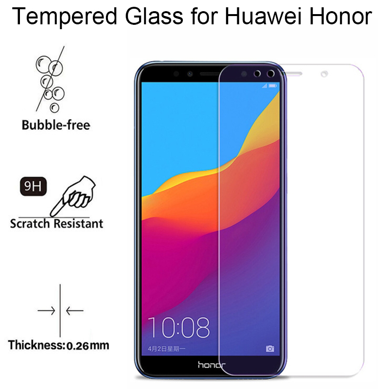 Image 3 - Protective Glass For Huawei Honor 7C Tempered Glass Honor 7C Russian Version AUM L41 Screen Protector For Huawei Honor 7C Glass-in Phone Screen Protectors from Cellphones & Telecommunications