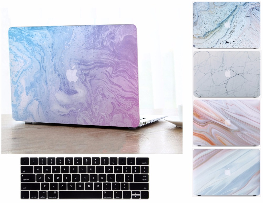 3in1 Fashion Marble Pattern Hard Shell Case Keyboard Cover Skin Set For 11 12 13 15