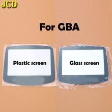Jcd 1 pcs gba 스크린 유리 렌즈에 대 한 플라스틱 유리 스크린 렌즈 커버 gameboy 사전 렌즈 수호자 승/adhensive