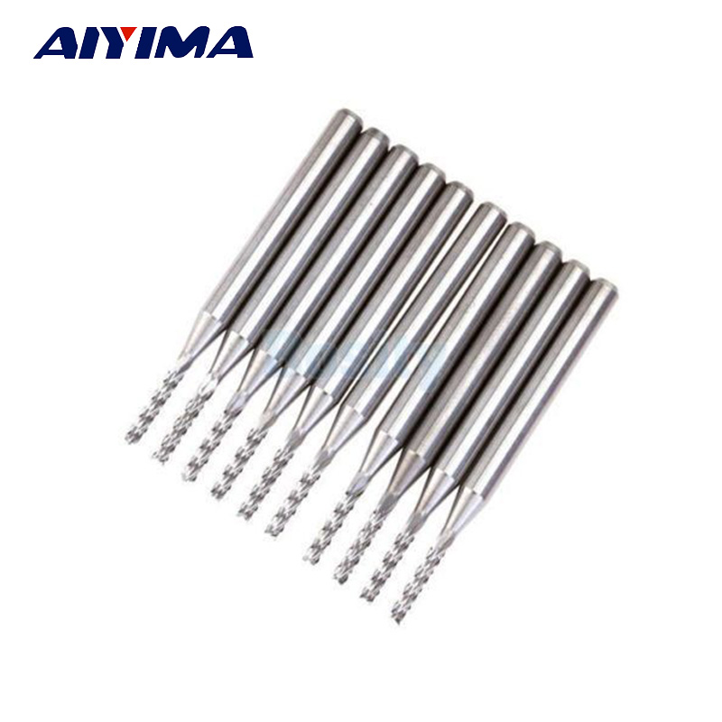10pcs 1 5mm carbide end mill endmill tungsten steel blade cnc  pcb engraving bit