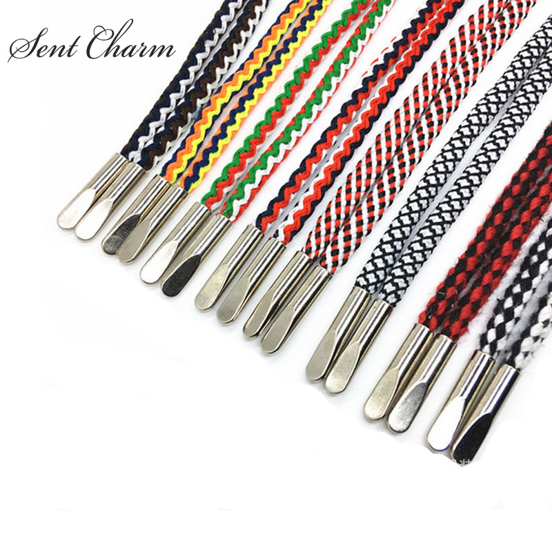 SENTCHARM 3pairs/Pack New National Style Fashion Striped Shoelace With Metal Aglets For Casual Shoes global elementary coursebook with eworkbook pack