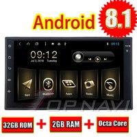 Авто книги читатель универсальный 7 ''Android 8,1 Topnavi Media Center MP3 HD емкостный Экран поддержки оригинальный руль Управление