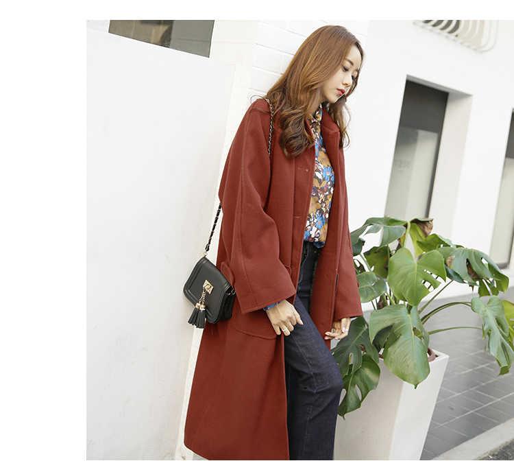 Casaco feminino, 2017, UK, для женщин, плюс размер, осень, зима, Cassic, простое, шерстяное, макси, длинное пальто, женский халат, верхняя одежда, manteau femme za