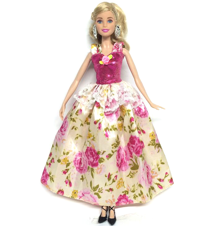 все цены на NK One Pcs Handmade Princess Wedding Dress Noble Party Gown For Barbie Doll Fashion Design Outfit Best Gift For Girl' Doll 020A