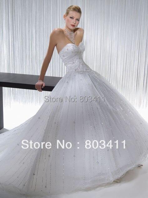 Freeshipping Brand New Shining Beaded Ball Gown Designer Wedding ...