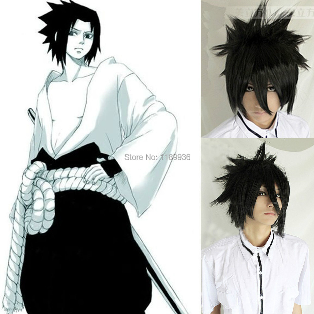 Death note sasuke uchiha cool boy pendek hitam halloween kostum cosplay penuh wig di dari aliexpress com alibaba group