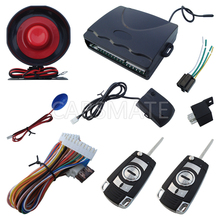 In Stock One Way Car Alarm System With Flip Key Remote Transmitters Alarm With Shock Sensor & LED Status Indicator Fast Shipping