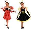 Frete grátis!! performances de Palco, FESTA de máscaras, todos os santos PARTIDO vestido elfos abelhas, joaninha de fadas