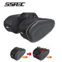 Carbon Fiber Hard Protection Motocross Saddle Bags Waterproof Motorcycle Travel Helmet Side Bag Tail Luggage With Rain Cover