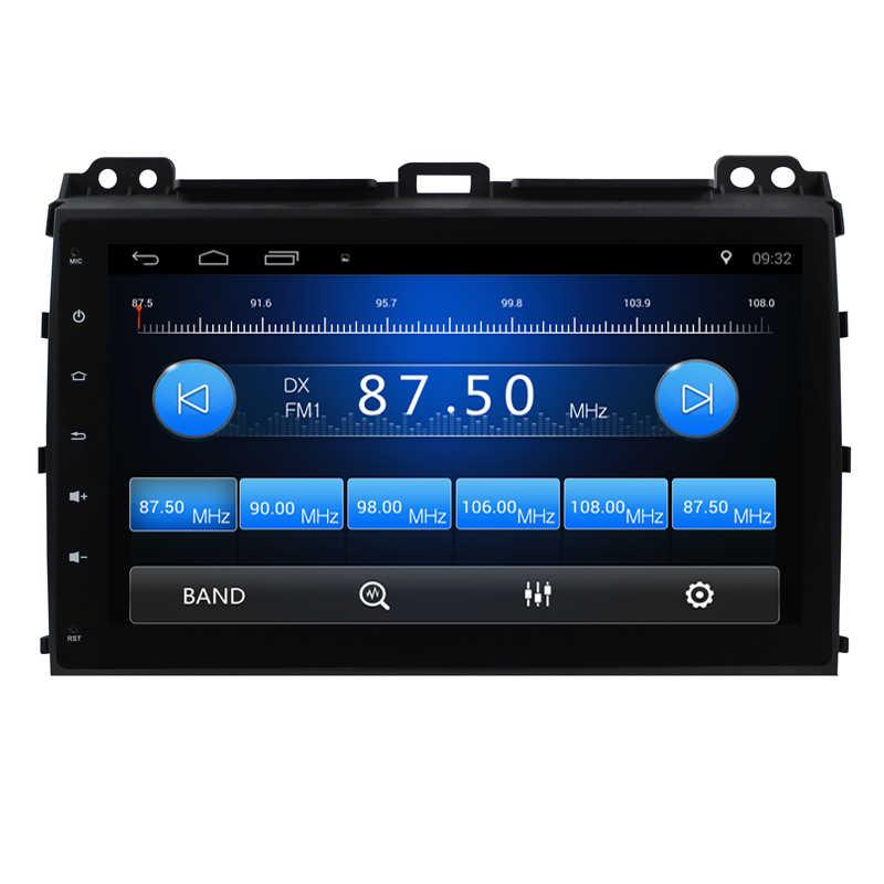 Android 8,1 coche DVD GPS para Toyota Prado 120 2004-2009 Autoradio 2din Radio de coche GPS navegación Central en sistema de unidad de cabezal de tablero