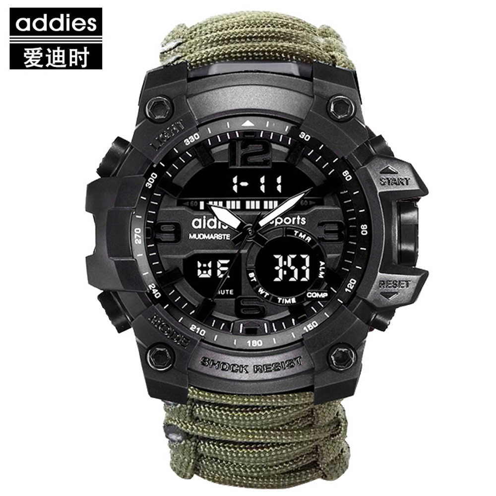 026732cb2467 ... ADDIE relojes deportivos de doble pantalla LED Digital analógico  luminosa electrónica de cuarzo relojes de pulsera ...