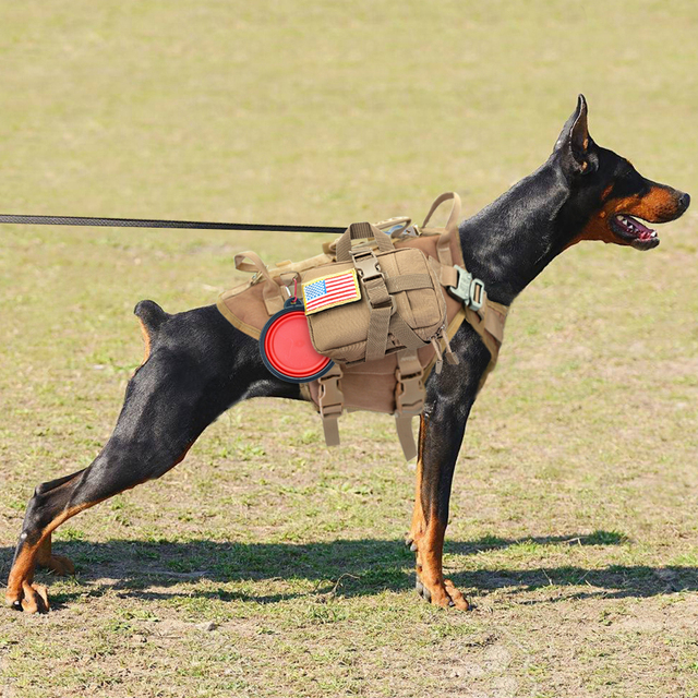 Tactical Nylon Dog Harness Military K9 Working Dog Vest No Pull Pet Training Hunting Vest for Medium Large Dogs German Shepherd