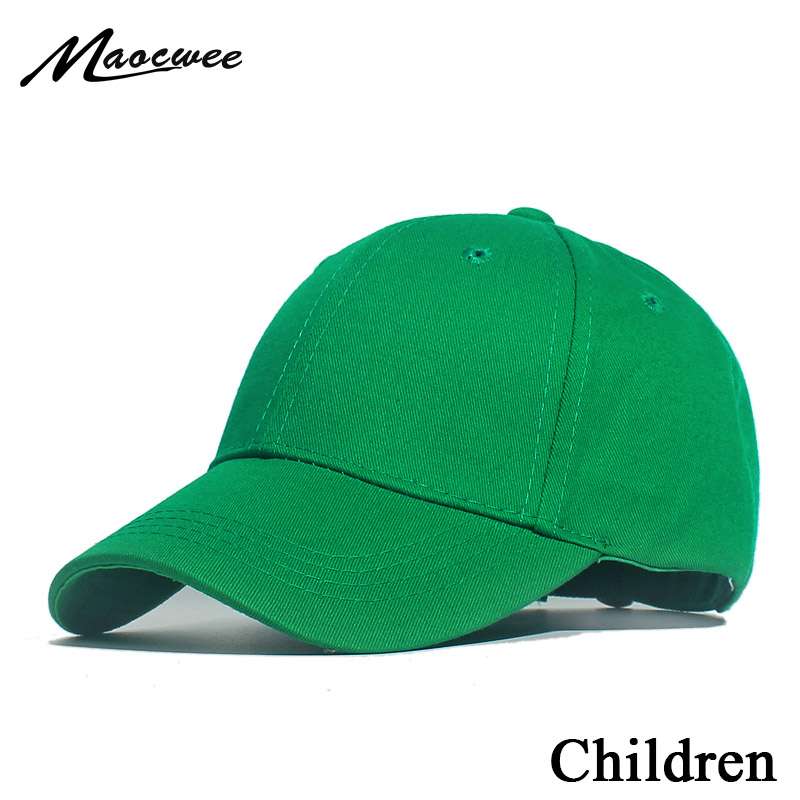 New Kids Solid Color Children Snapback Caps Baseball Cap With Spring Summer Hip Hop Boy Girl Baby Hats For 1-7 Years Old Green