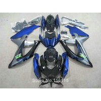 ABS fairing kit for SUZUKI K8 K9 GSXR 600 750 2008 2009 2010 blue black GSXR600 GSXR750 08 09 10 motorcycle fairings 62 2