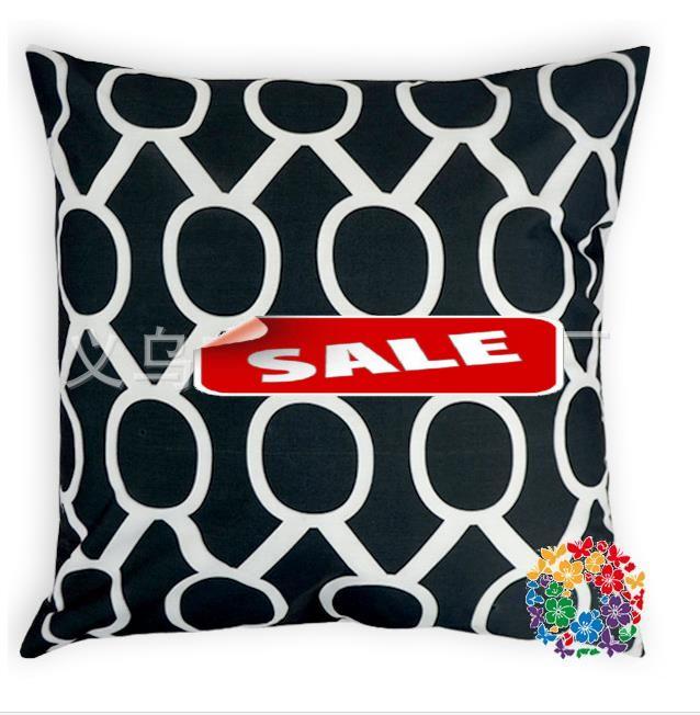 Geometric printed square cushion covers chair sofa car cushion cover Home Textiles cotton pillow case 45X45cm coffee bar decor
