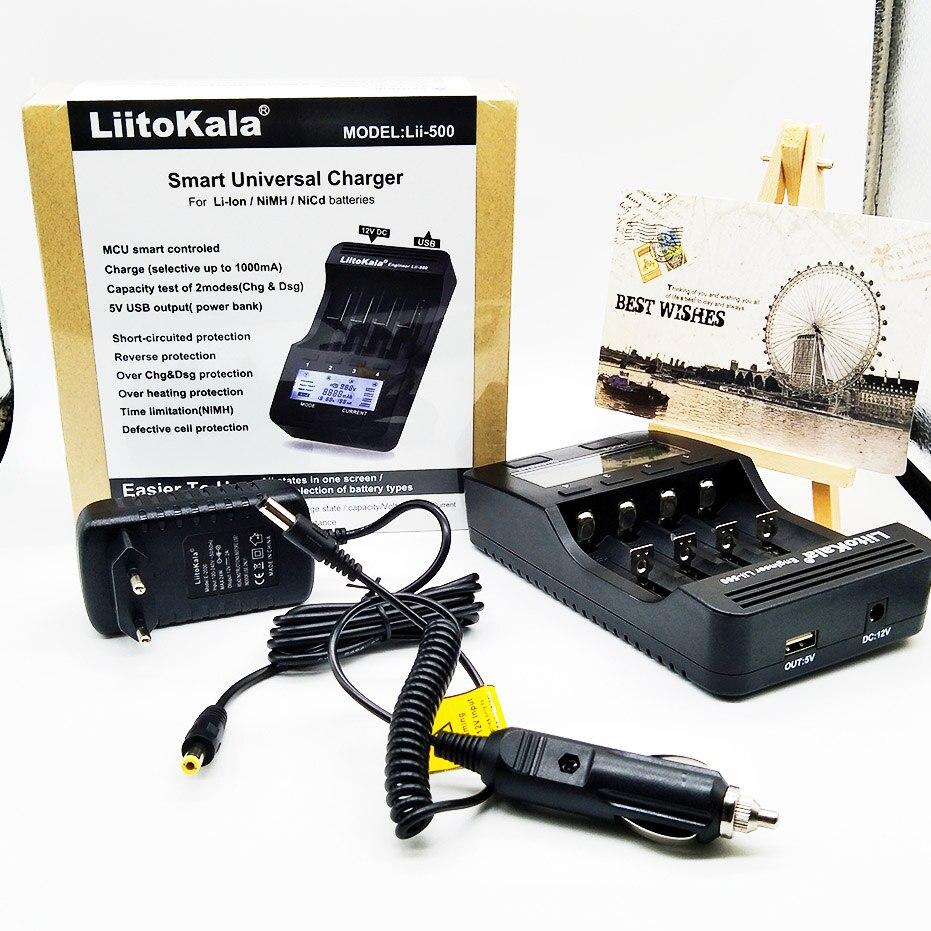 Liitokala lii-500 lii-202 lii-100 lii-402 caricabatteria 3.7 V/1.2 V 18650/26650/16340/18500 Batteria caricatore con schermo lii500