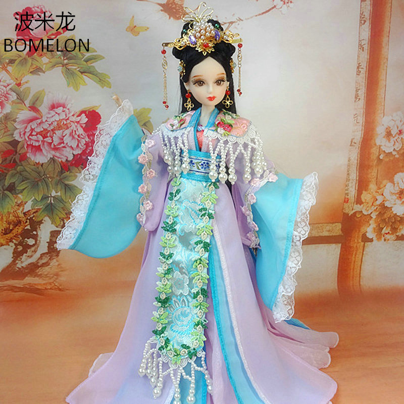 31CM Handmade Chinese Costume Doll Tang Dynasty Princess ANLE Jointed Doll 1/6 Bjd Doll Brinquedos Toys For Girls Birthday Gift high end handmade chinese dolls ancient costume tang princess jin yang jointed doll articulated kids toys girls birthday gift