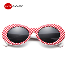 UVLAIK Kurt Cobain Glasses Men Clout Goggles Sunglasses For Women Brand Designer Oval Retro Shades UV400 Sun