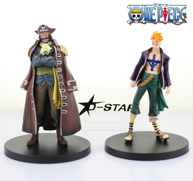Free Shipping 2pcs 7 One Piece Anime Marco the Phoenix & GOL.D.ROGER Set Boxed PVC Figure Collection Model Toy (2pcs per set)