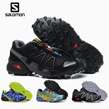 Salomon Speed Cross 3 CS Men Outdoor Sport Shoes Breathable Sneakers zapatillas Hombre  Male Speedcross 3 Hiking shoes ella zeedog