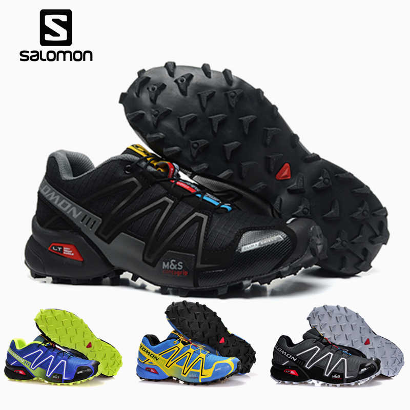 premium selection 97ff1 24fd2 Salomon Speed Cross 3 CS Men s Outdoor shoes climbing Hiking Sport  Breathable Sneakers solomon Speedcross Male