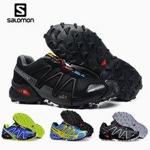 2339f731b1805 Salomon Speed Cross 3 CS Men's Outdoor shoes climbing Hiking Sport  Breathable Sneakers solomon Speedcross Male