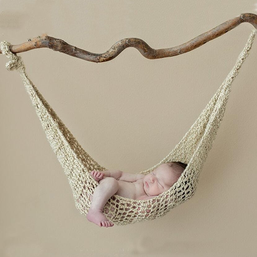 Baby Photography Clothing Newborn Photography Prop Wool Handmade Knitting Hook String Bag Hammock Newborn Photo Props Available In Various Designs And Specifications For Your Selection Hats & Caps