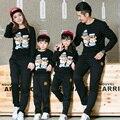 Семьи соответствующие наряды мать и дочь одежда семья одежда отец и сын одежды мама и детская одежда свободного покроя топы AL13