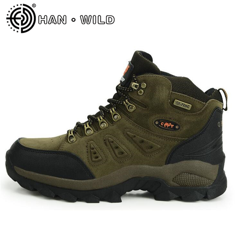 High Quality Unisex Hiking Shoes Men Autumn Winter Outdoor Climbing Shoes Warm Winter Ankle Boots Waterproof Safety Work Boots mulinsen new arrive 2017 autumn winter warm high climbing shoes men