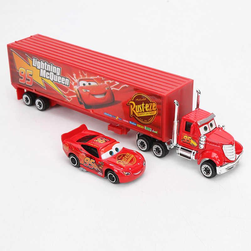 7 Pcs/set Disney Pixar Cars 3 Mainan Lightning McQueen Jackson Badai Mater MACK Paman Truk 1:55 Diecast Metal Model Mobil anak Laki-laki Hadiah