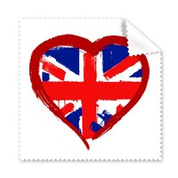 5 Pcs Love Heart UK England Landmark Flag Mark Illustration Pattern Glasses Cloth Cleaning Cloth Phone